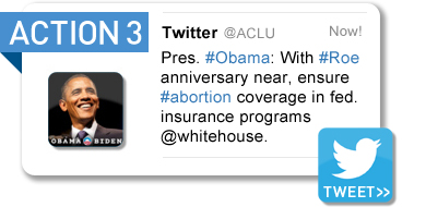 Tweet President Obama (Abortion and Women's Rights)