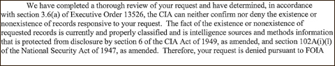 Lawsuit Filed Against Government Over Assassination Of U.S. Citizens cia glomar image for blog