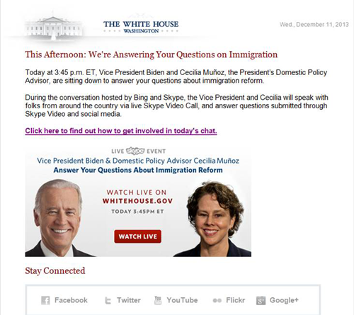Q&A on Immigration with Vice President Biden and Cecilia Muñoz