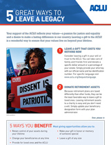 Ways to Leave a Legacy document thumbnail