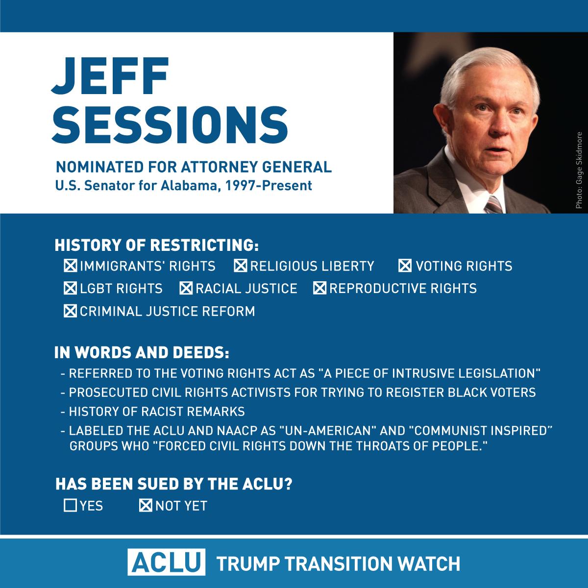 Trump Transition Watch | American Civil Liberties Union