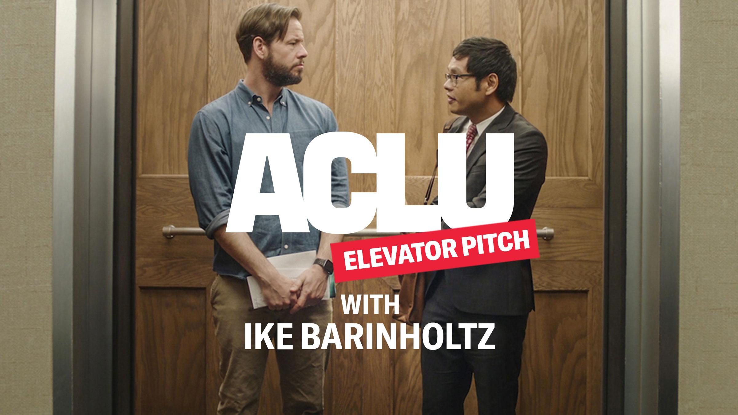 ACLU Elevator Pitch: 2020 Census With Ike Barinholtz