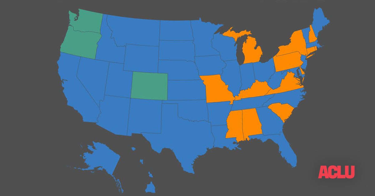 Early voting us map