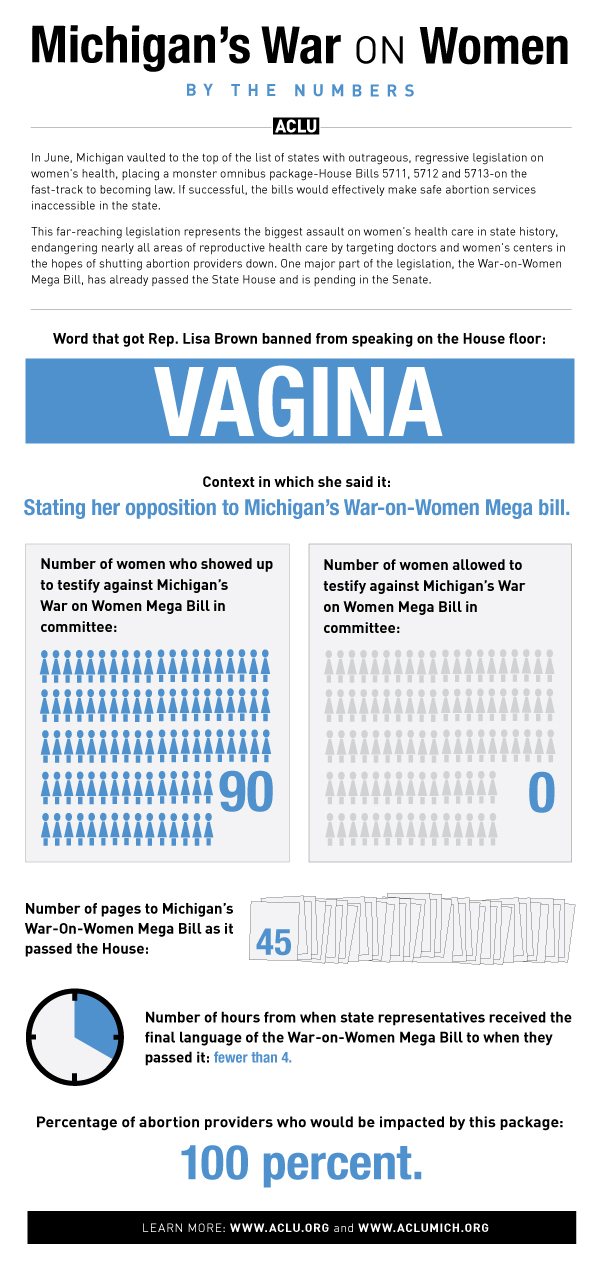 Michigan's War on Women - By the Numbers