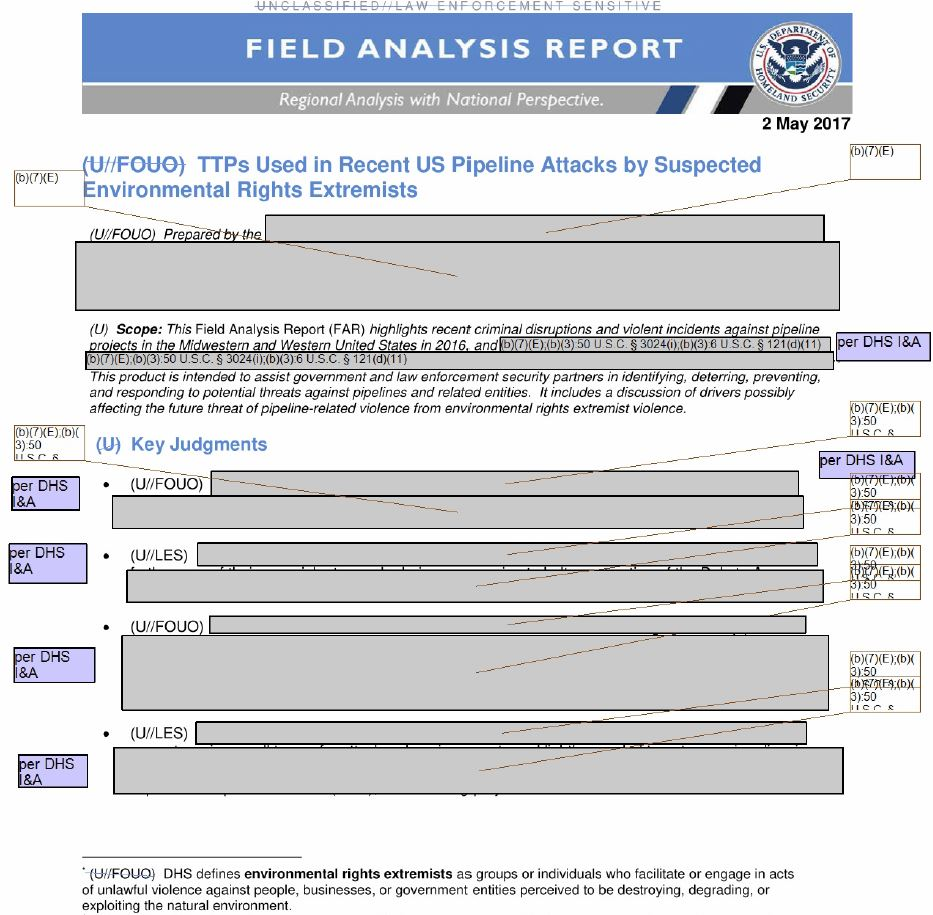 Field Analysis Report from DHS