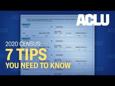 Census 2020 American Civil Liberties Union