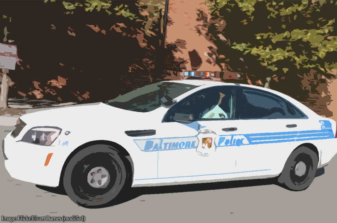 Photo of Baltimore police car