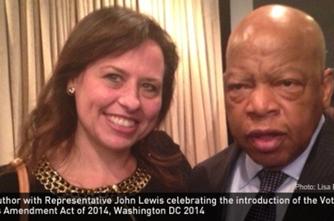 The author with Representative John Lewis