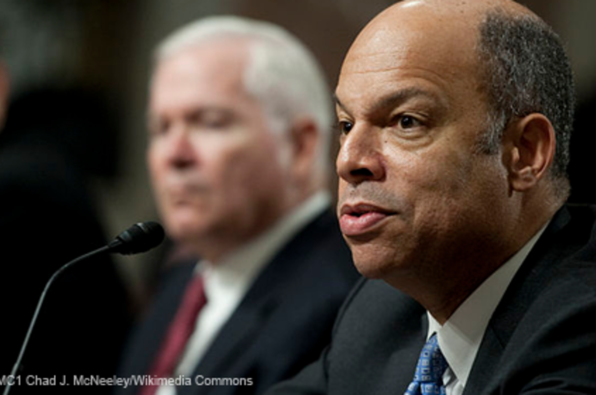 Secretary Jeh Johnson testifying