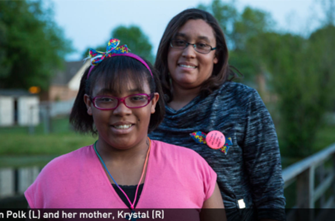 Krystin Polk (L) and her mother, Krystal (R)