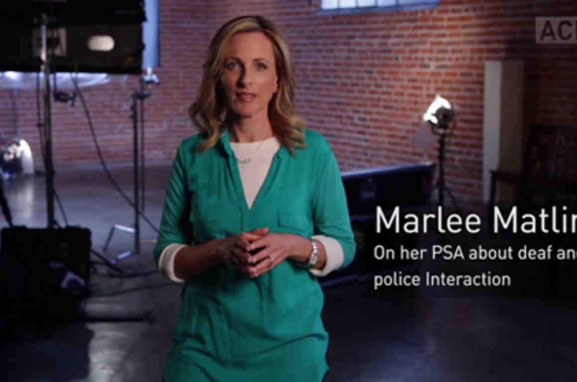 Marlee Matlin on her PSA about deaf and police interaction