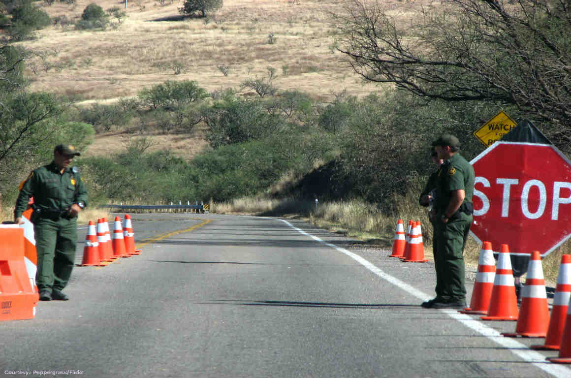 Border Patrol Checkpoint, Santa Cruz County, Arizona