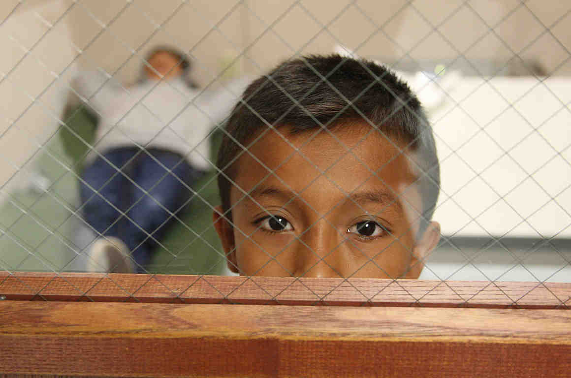 CBP Processing Unaccompanied Children. Photo: US Customs and Border Patrol