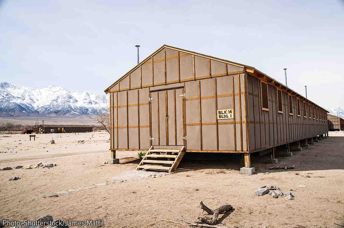 Manzanar Detention Center Barracks - Japanese-American interment camp during WW2