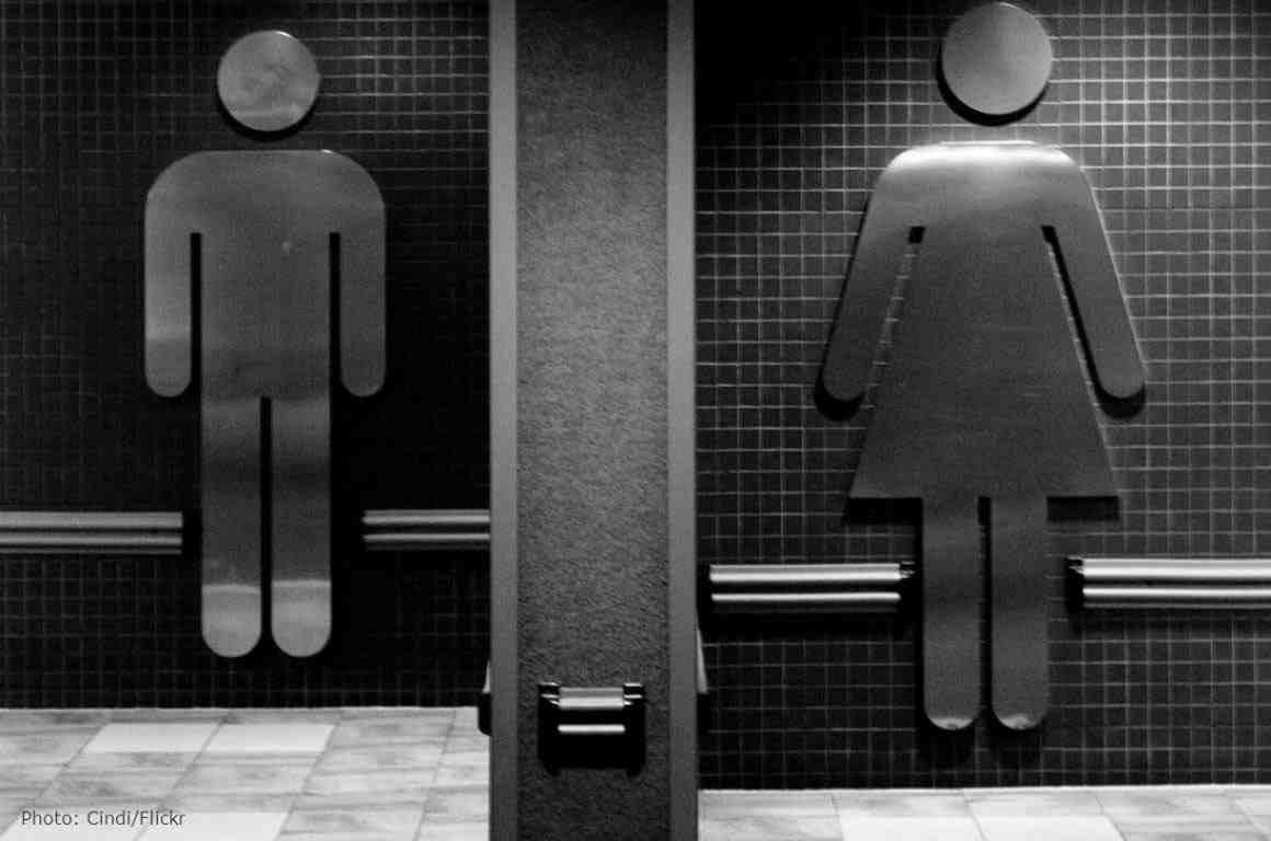 Male and female bathroom signs