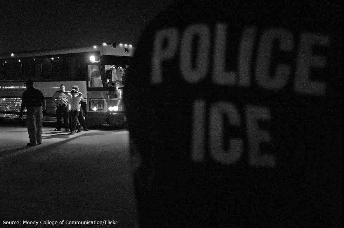 An ICE removal of undocumented immigrants