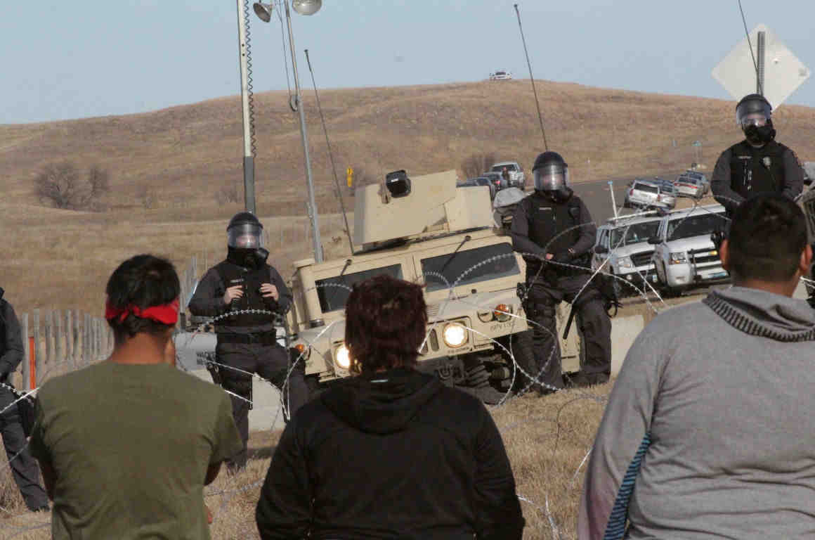 Standing Rock Bridge Barricade