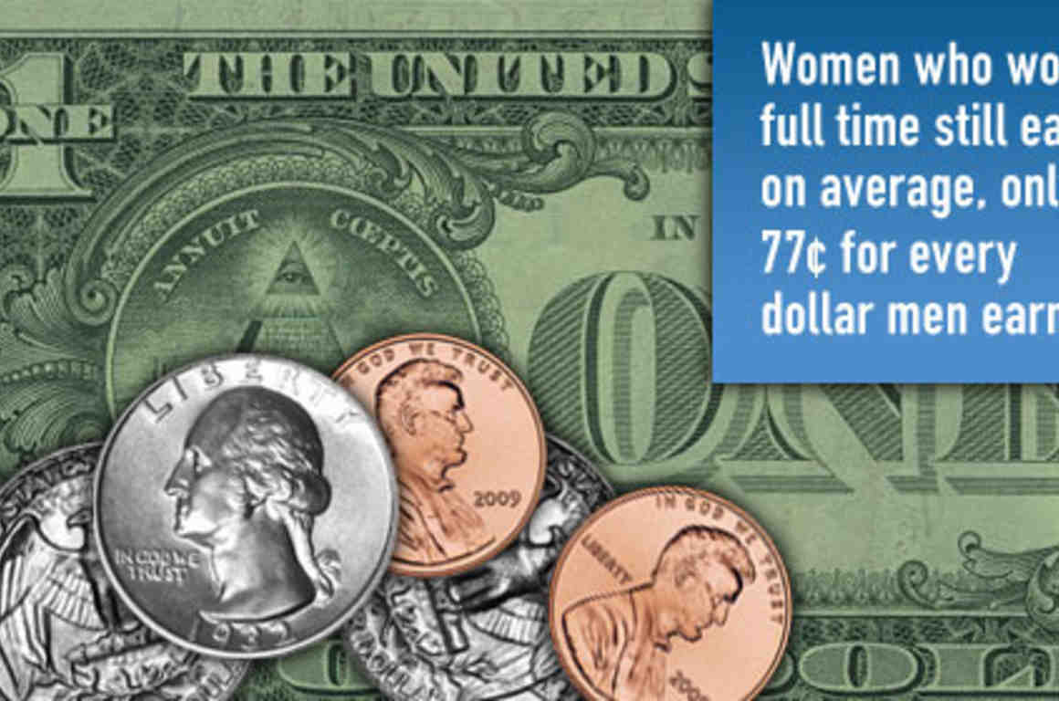 Women who work full time still earn, on average, only $0.77 for ever $1 men earn