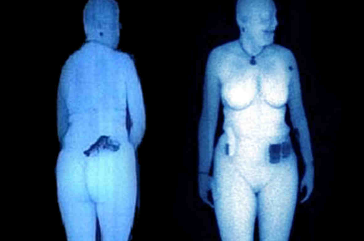 Woman in backscatter x-ray