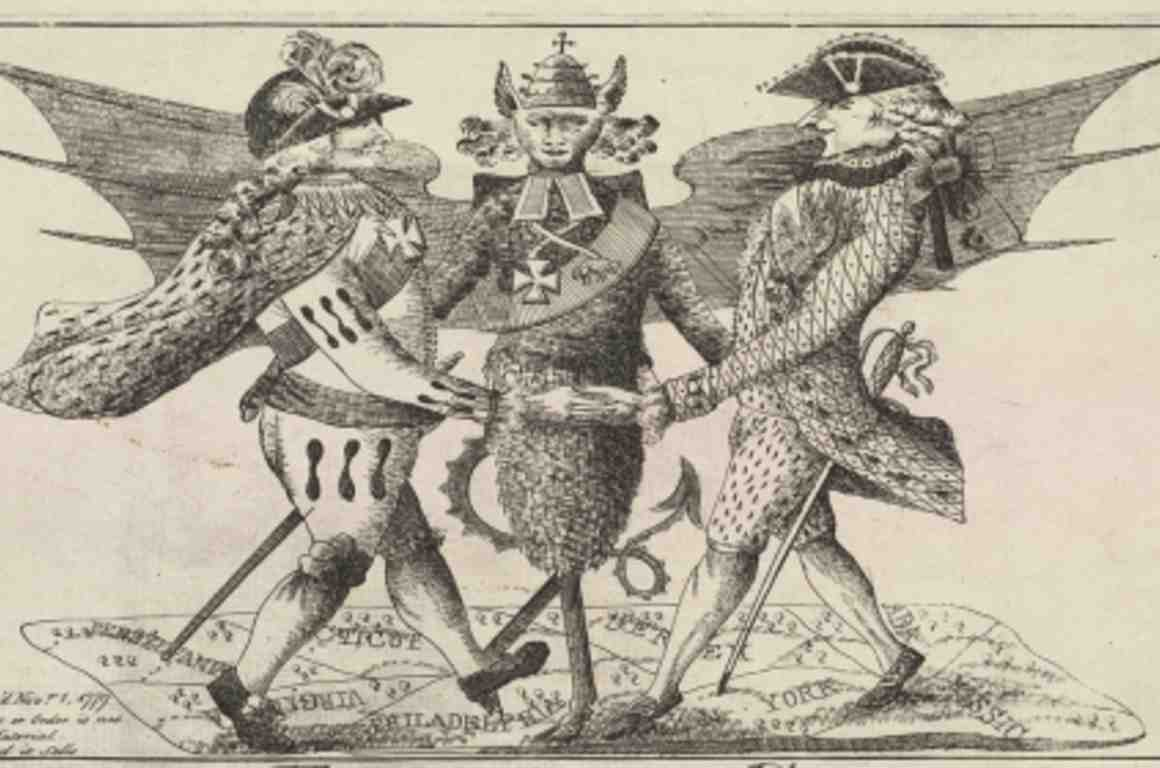 18th Century political cartoon