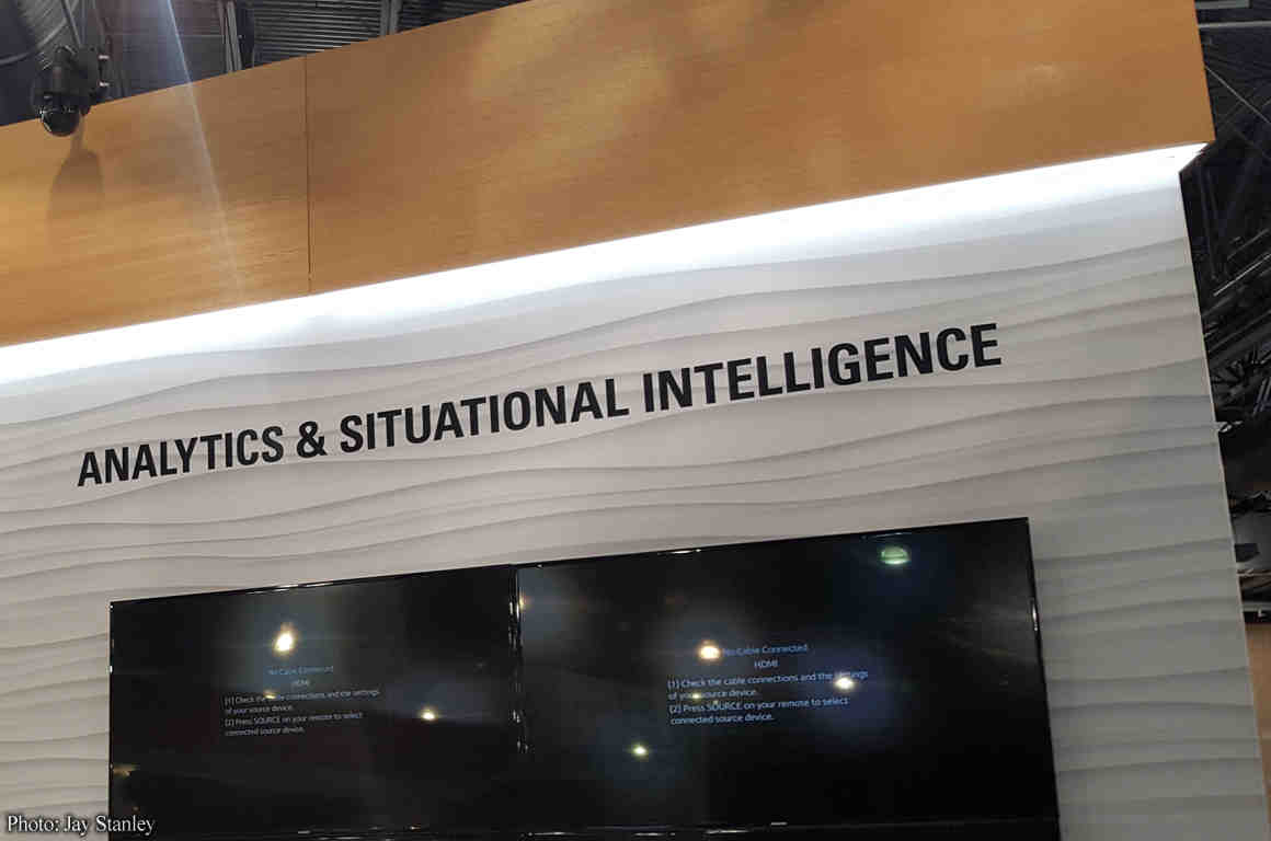 "Expo display touting ""analytics and situational intelligence"""
