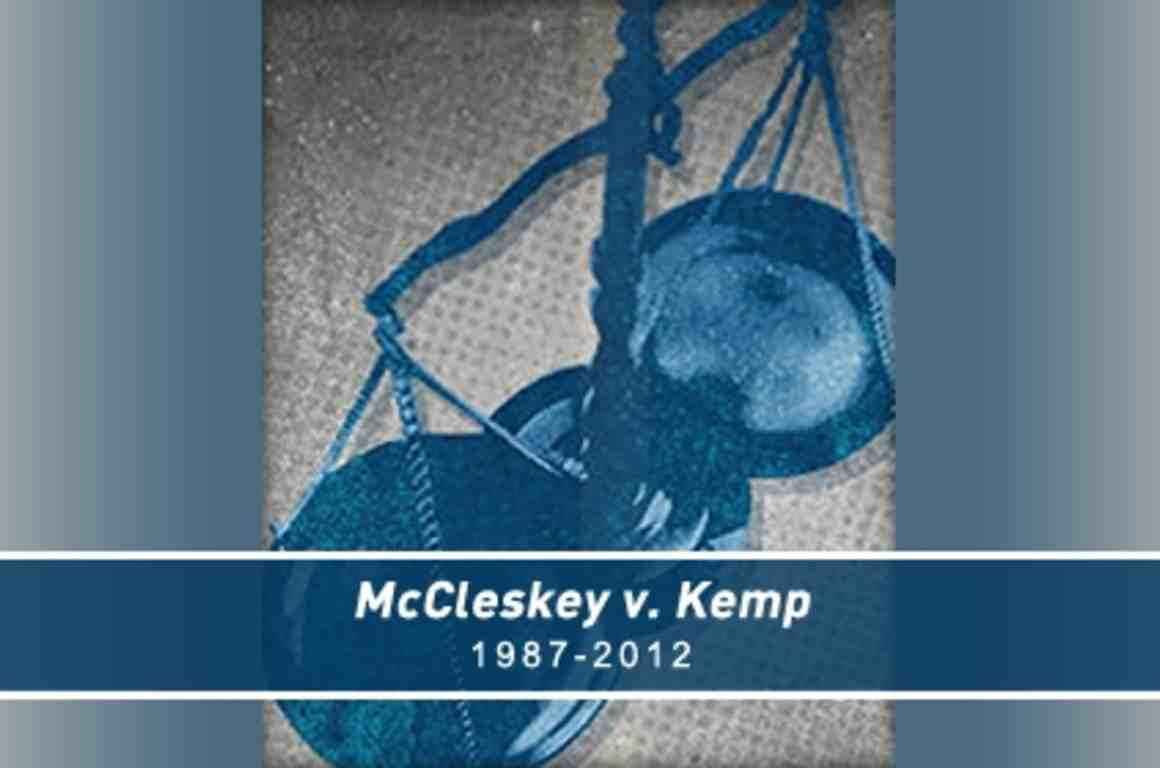 mccleskey v kemp 481 us 279 (1987), argued 15 oct 1986, decided 22 apr 1987 by vote of 5 to 4 powell for the court, brennan in dissent joined by marshall, blackmun, and stevens blackmun in dissent joined by marshall, stevens, and brennan stevens in dissent joined by blackmun warren mccleskey, a black man, was convicted and.