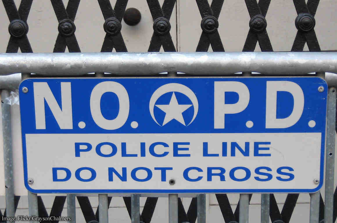 Sign: NO PD Police Do Not Cross
