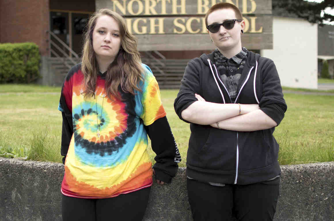 Two students at North Bend High School