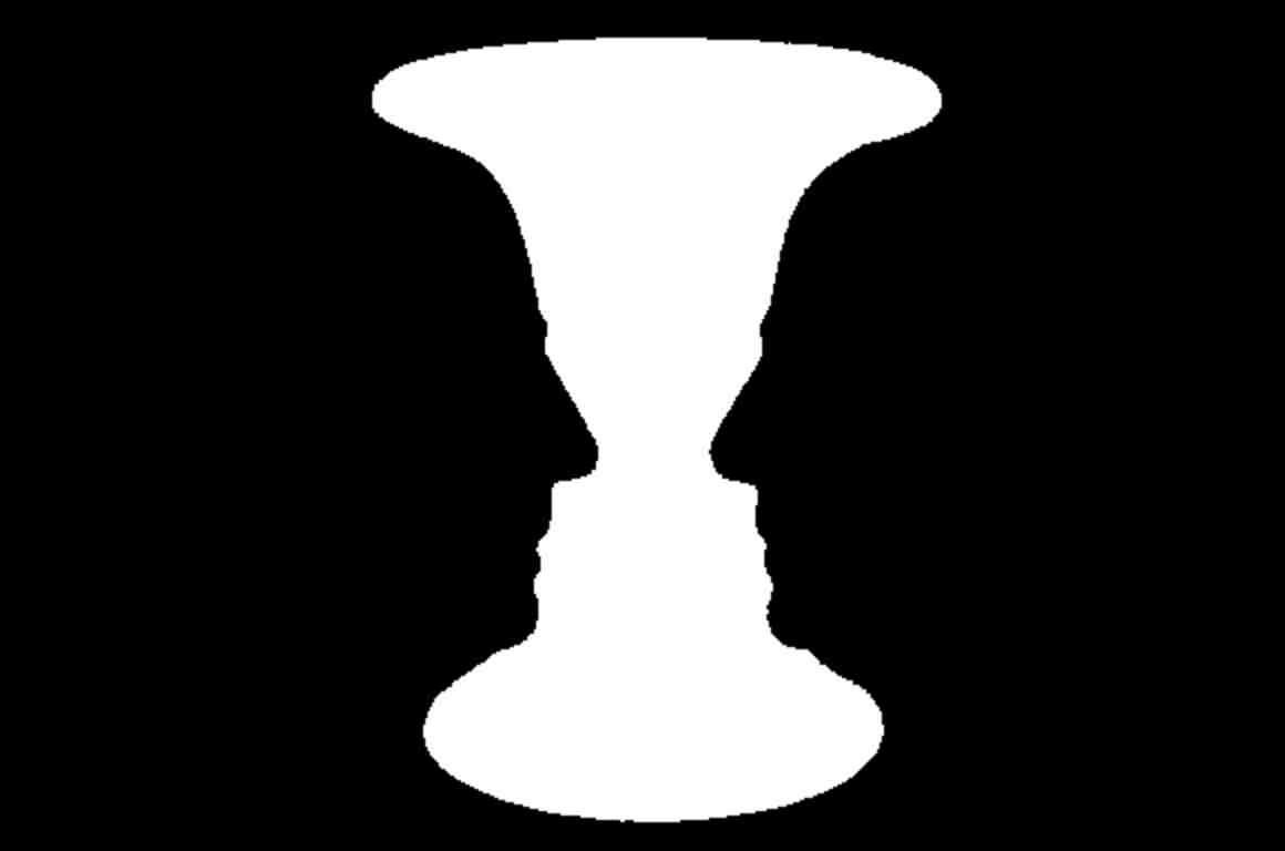 The Rubin's Vase figure-ground illusion