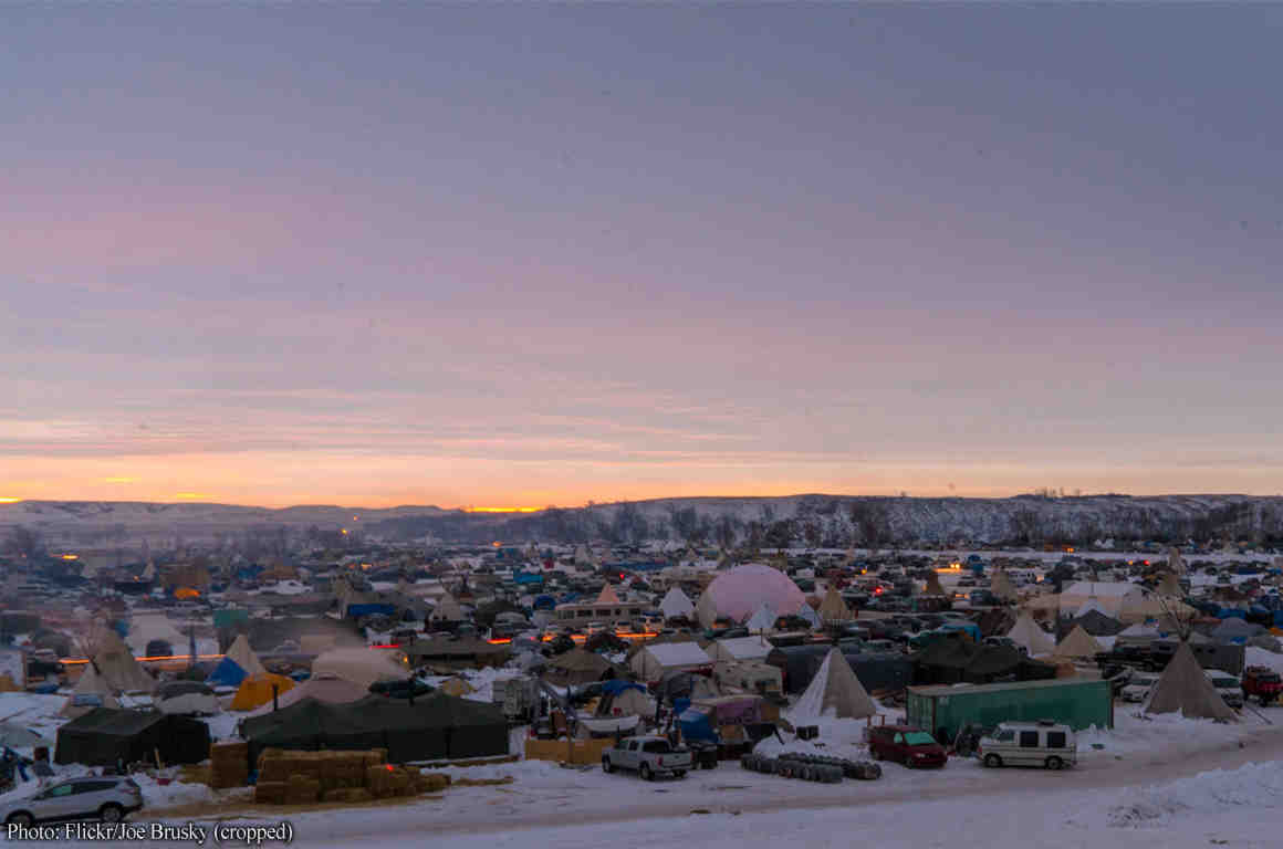 Standing Rock protest encampment
