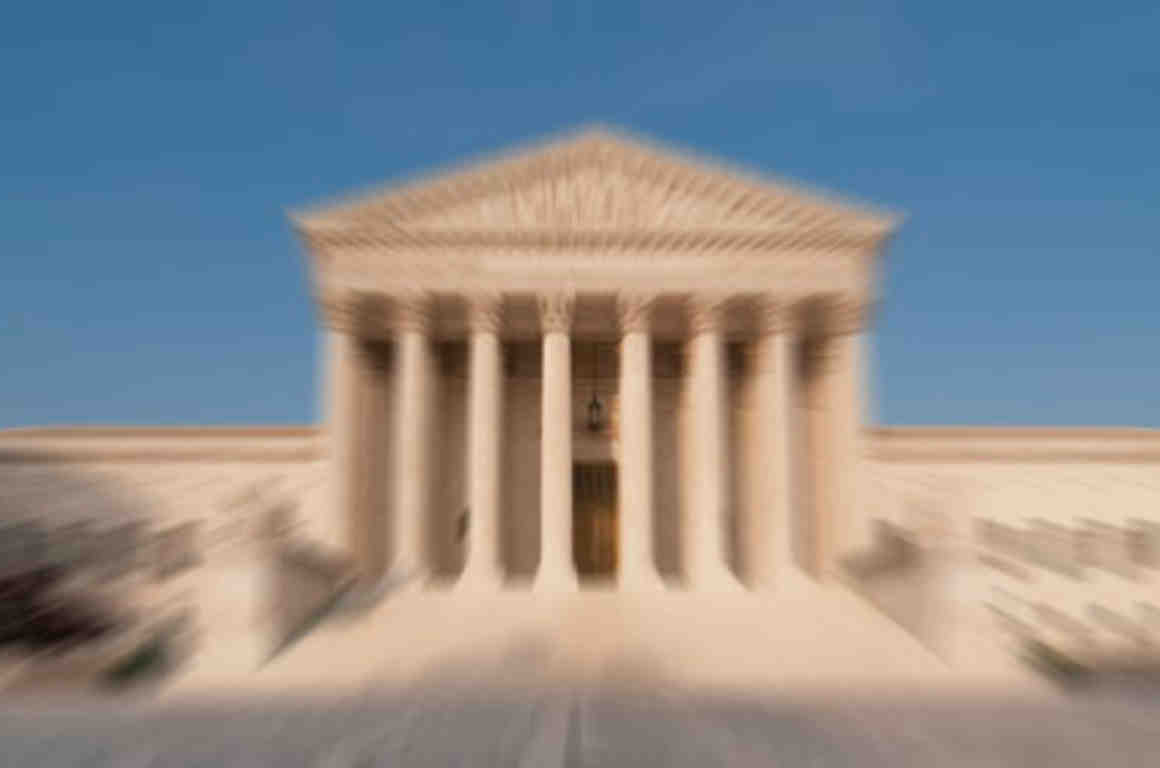 Blurred photo of Supreme Court building