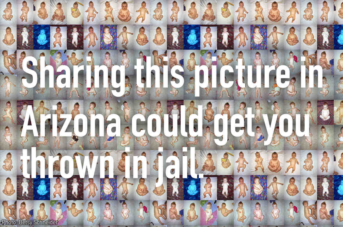 Sharing this picture in Arizona could get you thrown in jail.