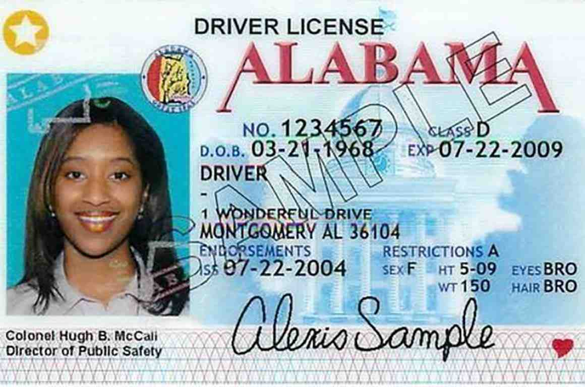 Alabama Driver License