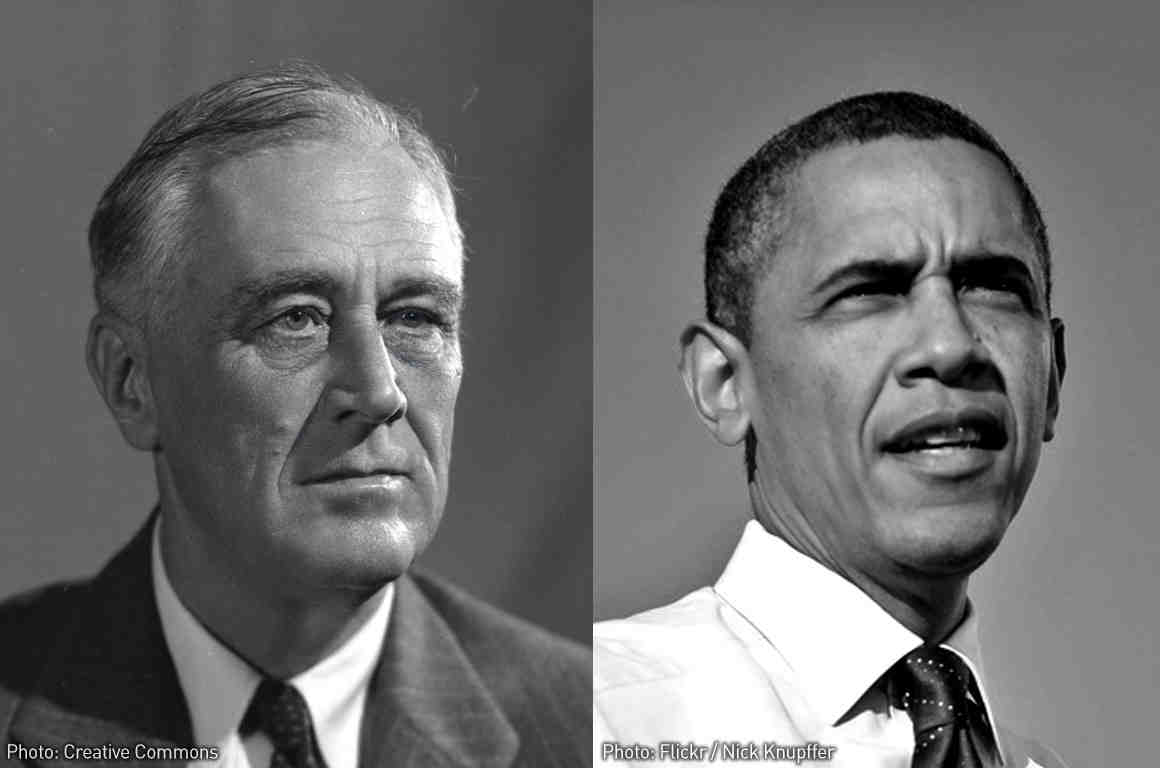 Presidents Obama and FDR