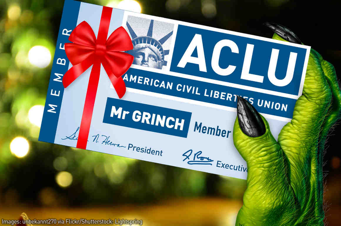 Grinch with ACLU member card