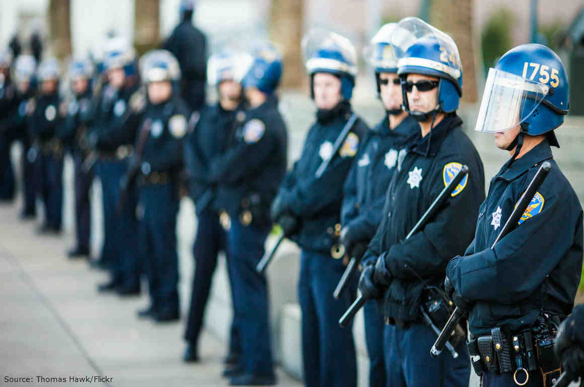 San Francisco Police at Occupy San Francisco