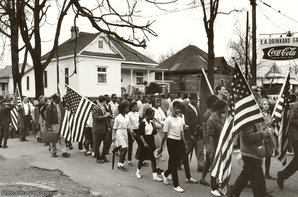 Voting rights marches in Selma, Alabama, in 1965