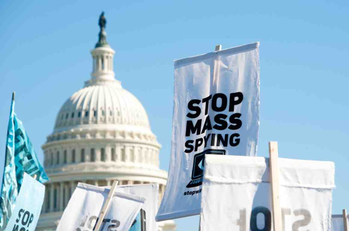 Stop Mass Spying protest