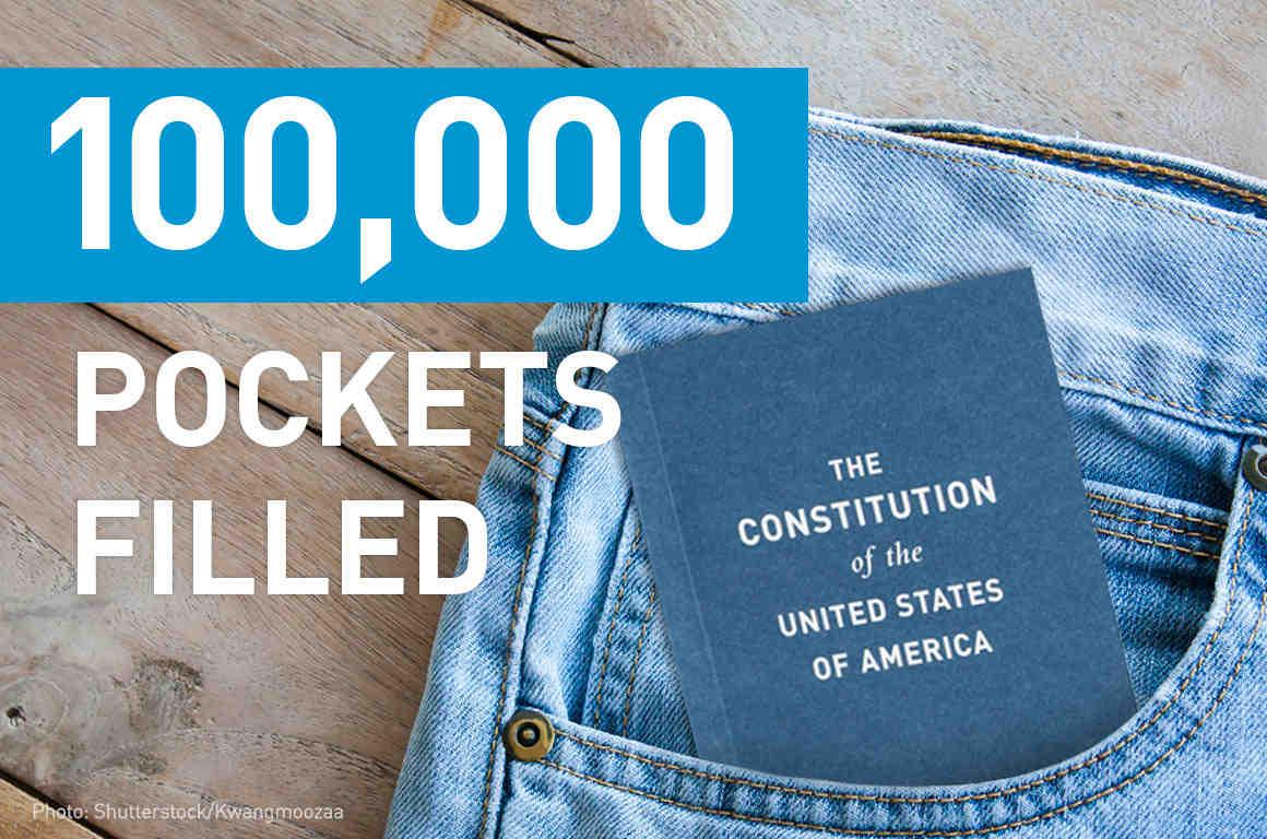 100,000 Pockets Filled