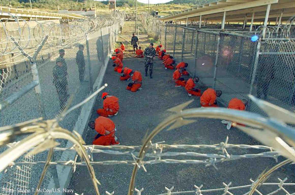 Prisoners at Guantanamo