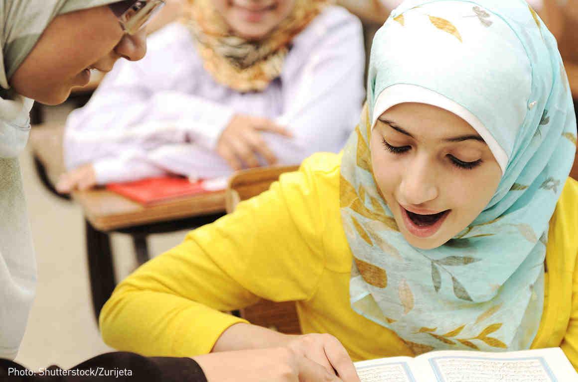Student wearing hijab