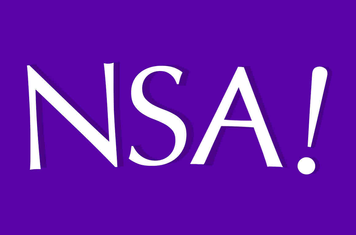 """""""NSA"""" in the style of Yahoo's logo"""