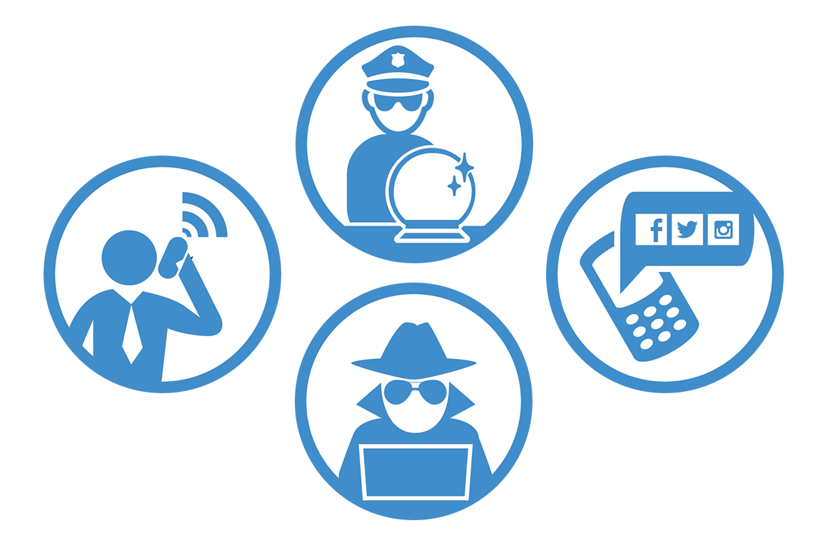Protect yourself from govt surveillance icons