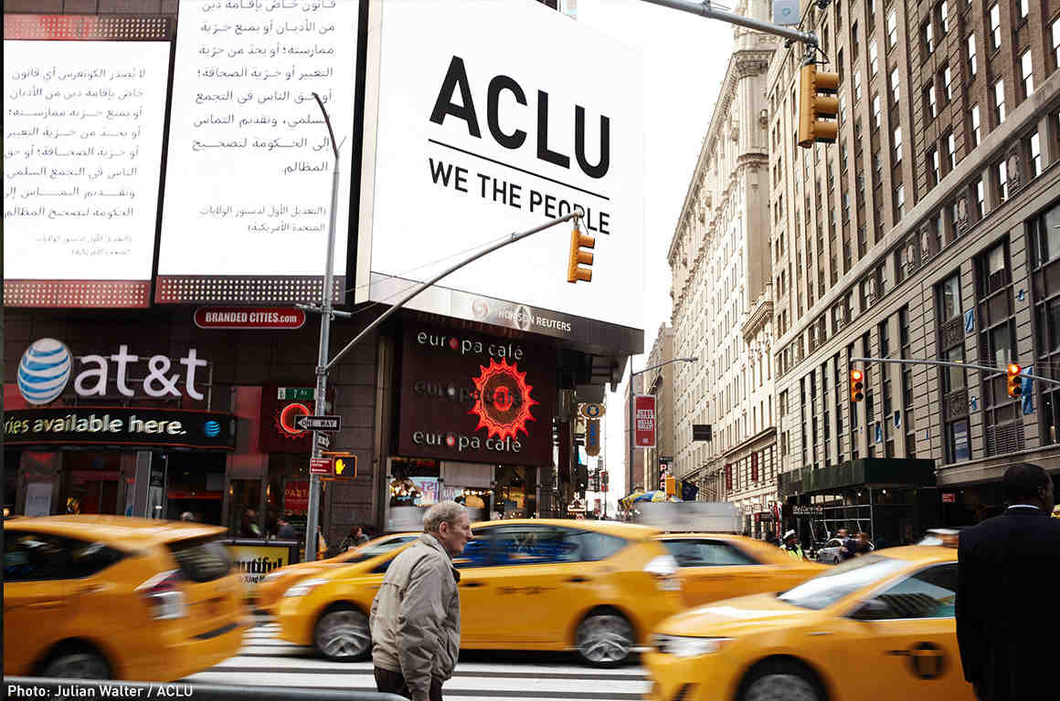 1st Amendment Campaign in Time Square