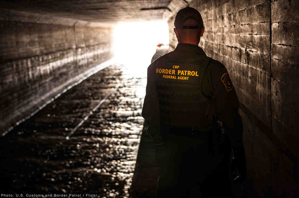 Border Patrol Officer Tunnel
