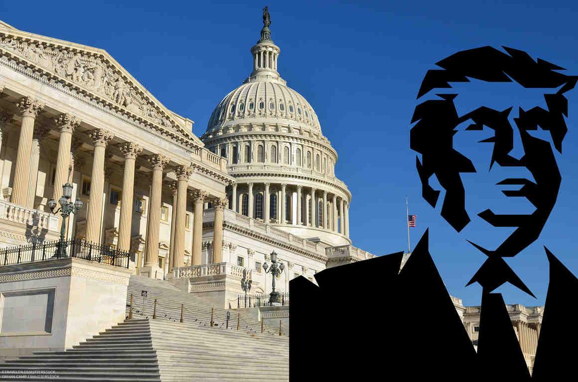 Capitol and Trump