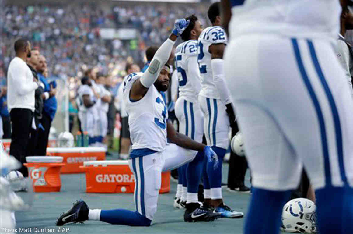 Colt Player Protesting Anthem