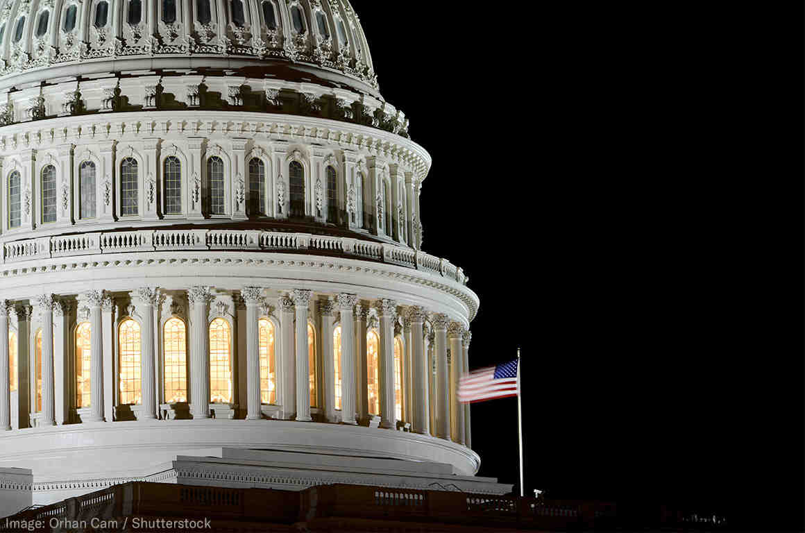 Congress at night