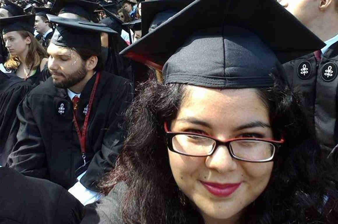 Lisette Diaz, a DACA recipient, at her Harvard graduation.