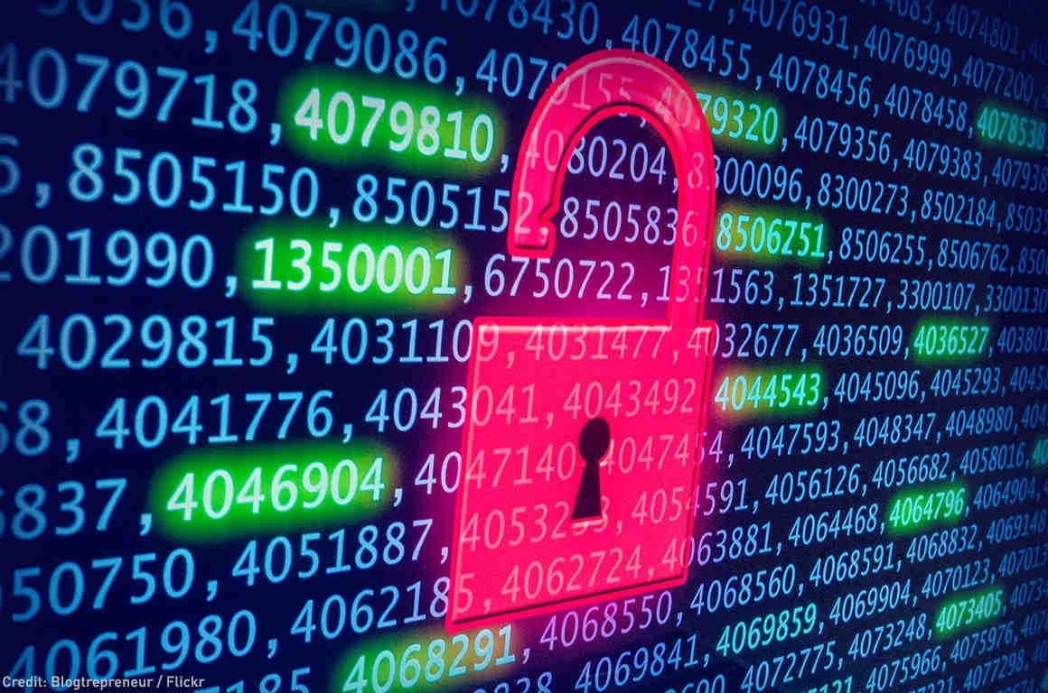 Rendering of data lock